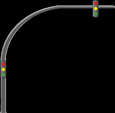 Curved traffic light stands (OGSG)