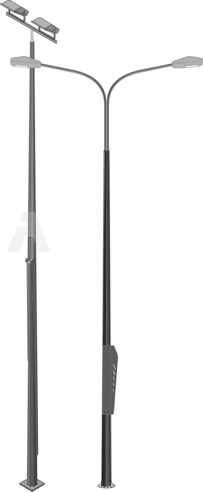 Octagonal conical hinged poles (ОGКS)