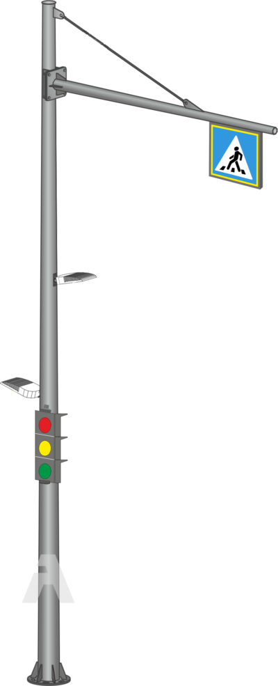 Conical circular traffic light stands for contrast lighting (OCSG)