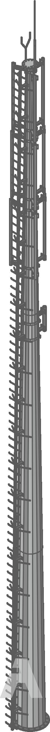 Radio masts.  Cellular communication pole (RMG)