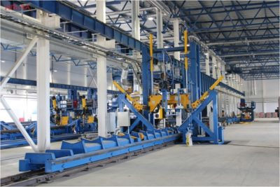 Bending on non-standard long profile of steel plates