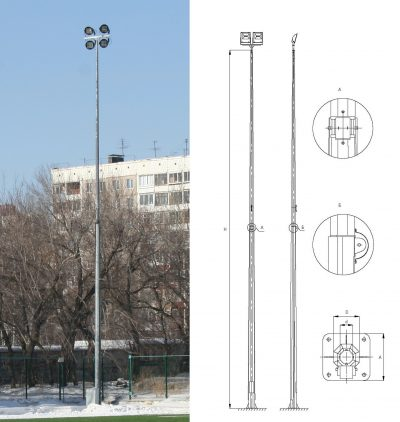 Octagonal conical folding poles (ОGКS)