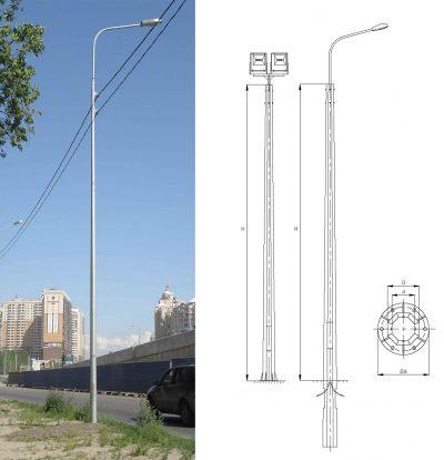 Octagonal heavy duty poles (OGS)