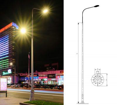 Conical circular poles (ОKK)