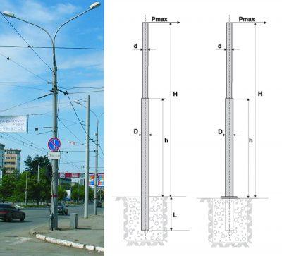 Circular heavy duty poles (OKS)