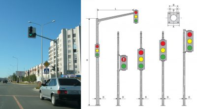 Light signaling equipment poles (OSFG)