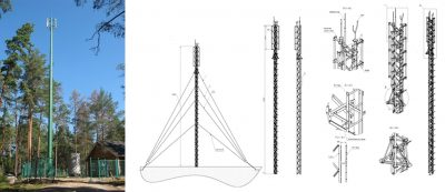 Radio masts.  Cellular communication pole (RMG)