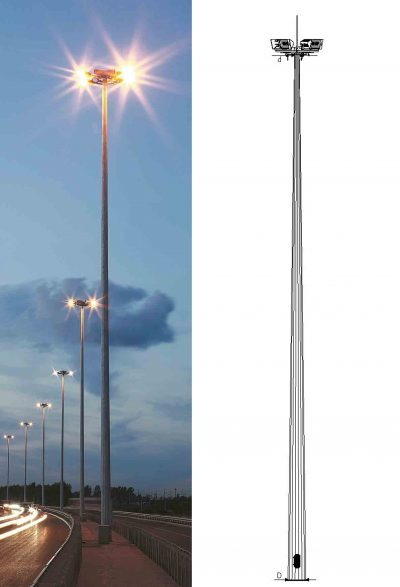 High masts with mobile crown (VMO)