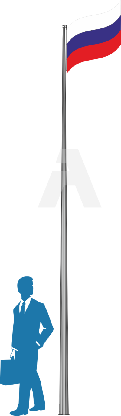 Round-conical street flagpoles (5 – 12 m)